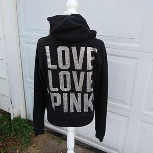 VS PINK bling hoodie zip up jacket